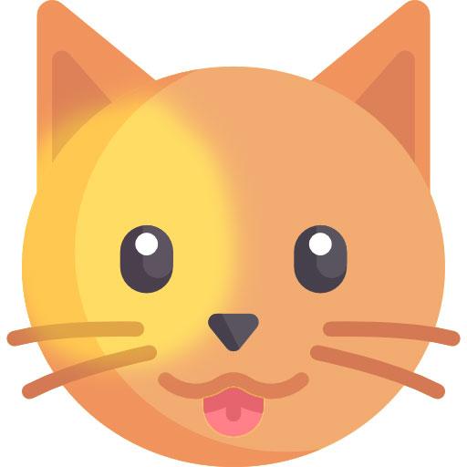 dibujo de gato bicolor