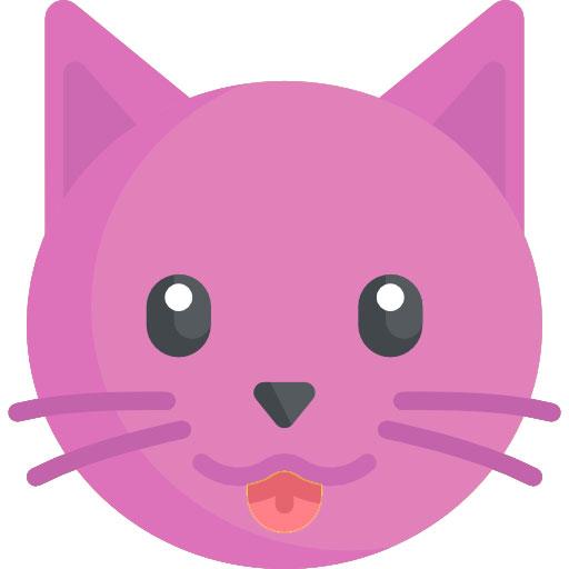 dibujo de gato rosa