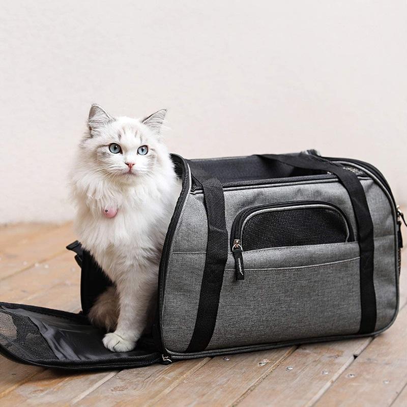 Bolso de Hombro Gato Transpirable Plegable Impermeable Acolchado Suave