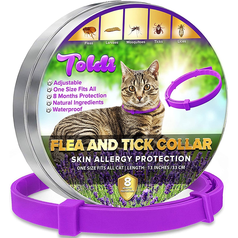 Collar antipulgas y garrapatas para gatos, 8 meses de protección